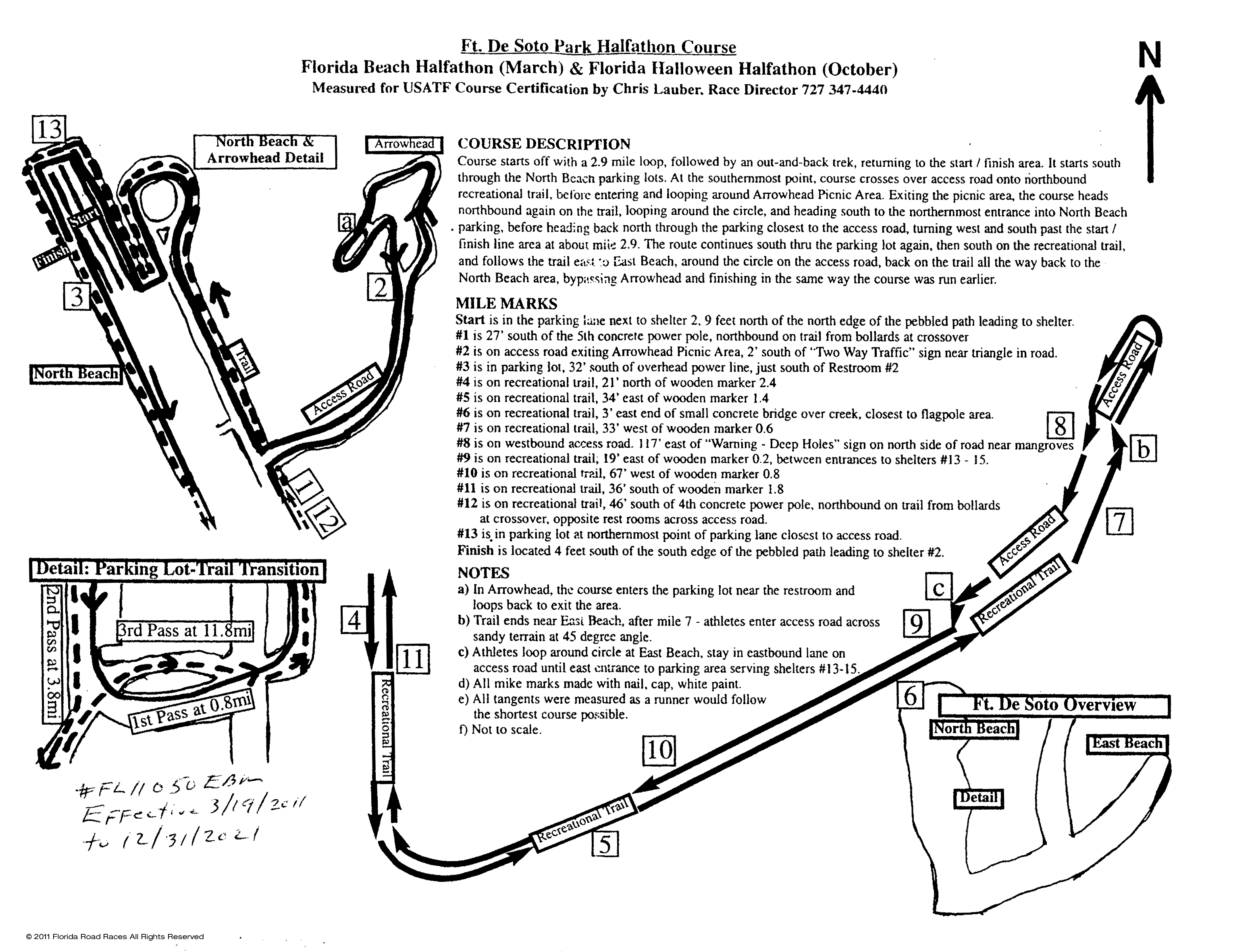Course Map  Info Florida Halloween Halfathon  K Race - Florida map by race