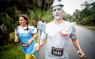 Halloween Halfathon Runners in Costumes